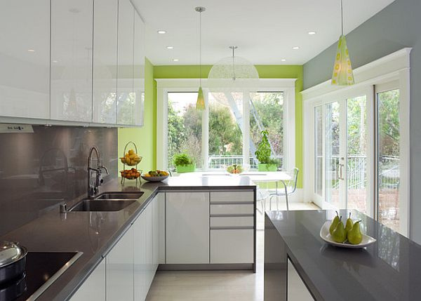 modern grey and green kitchen furniture decoist ForGrey And Green Kitchen