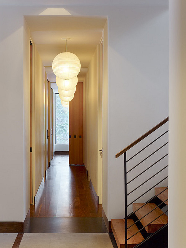 Modern hallway with neutral colors