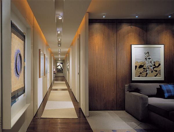 View In Gallery Modern Hallway With Recessed Lights