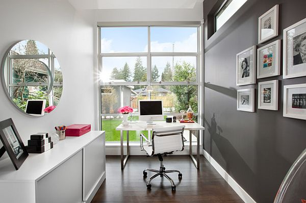 Contemporary Home Office Design Ideas: Feminine Home Office Designs And How To Pull It Off