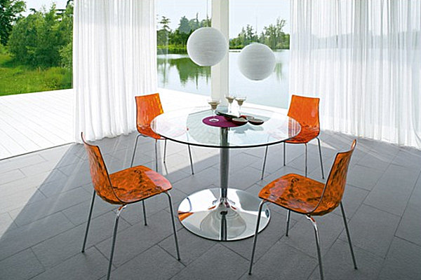 18 sleek glass dining tables - Kitchen Glass Table