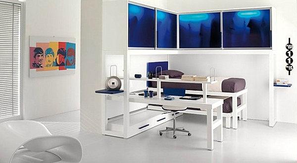 modern shared boys' room