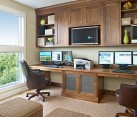 natural walnut home office furniture