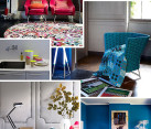 neon colored furniture and accessories
