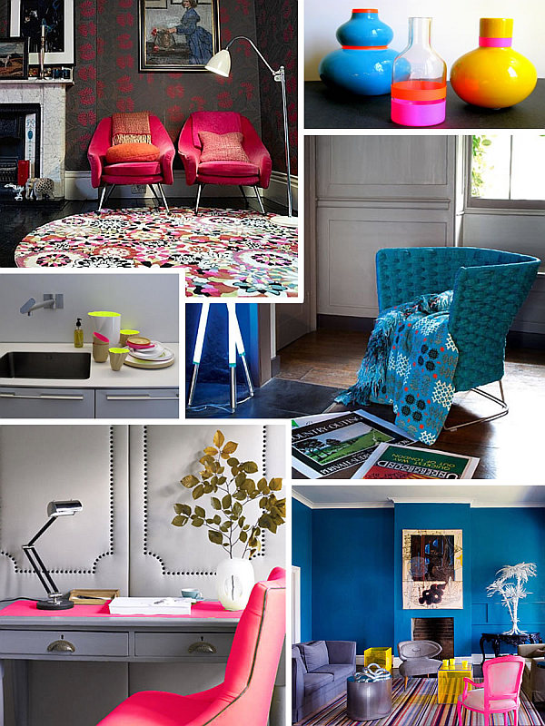 neon colored furniture and accessories Fluorescent Decor: Neon Interior Design Ideas to Brighten Your Space