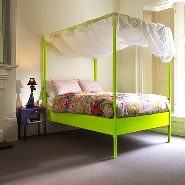 neon green poster bed