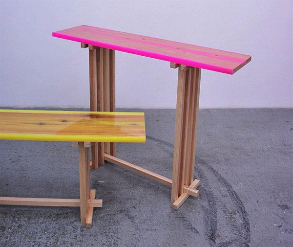 Alexandra Von Furstenberg Neon Coffee Table