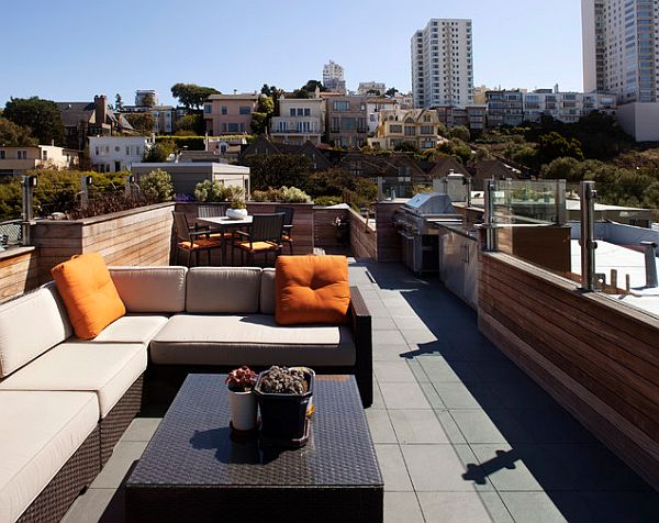 Roof Deck Contemporary Patio San