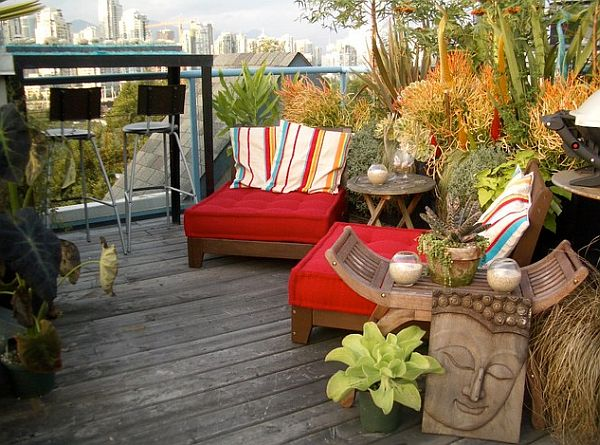Rooftop Terrace With Garden And