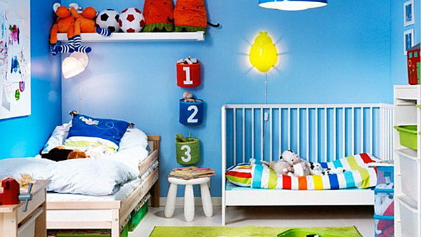 Kid spaces 20 shared bedroom ideas for Baby boy bedroom ideas uk