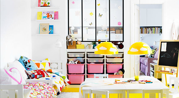 view in gallery - Ikea Shared Kids Room