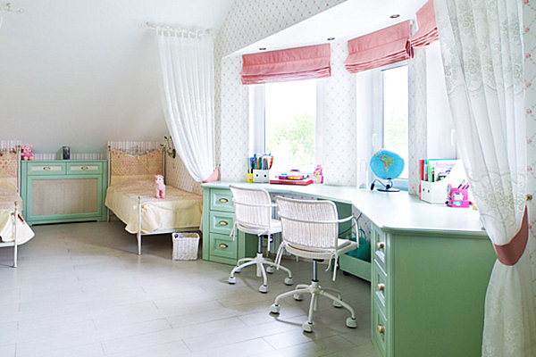 girls bedroom desk. View in gallery Kid Spaces  20 Shared Bedroom Ideas