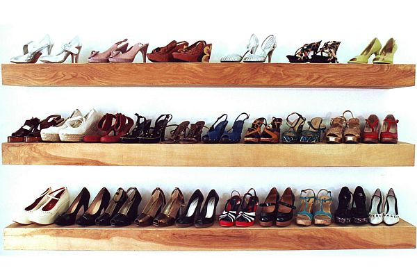 shoe organization – floating shelves