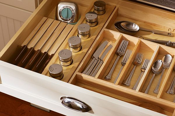 A fancy drawer to keep your silverware