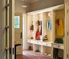 sleek mudroom idea with small drawers