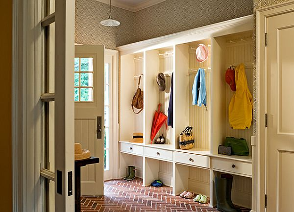 How to design a practical mudroom for Mudroom layout