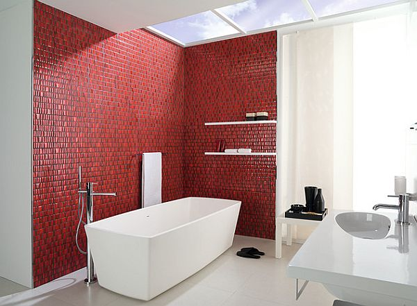 small red tiles for the bathroom