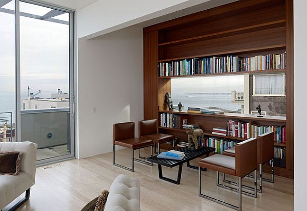 stylish home library design