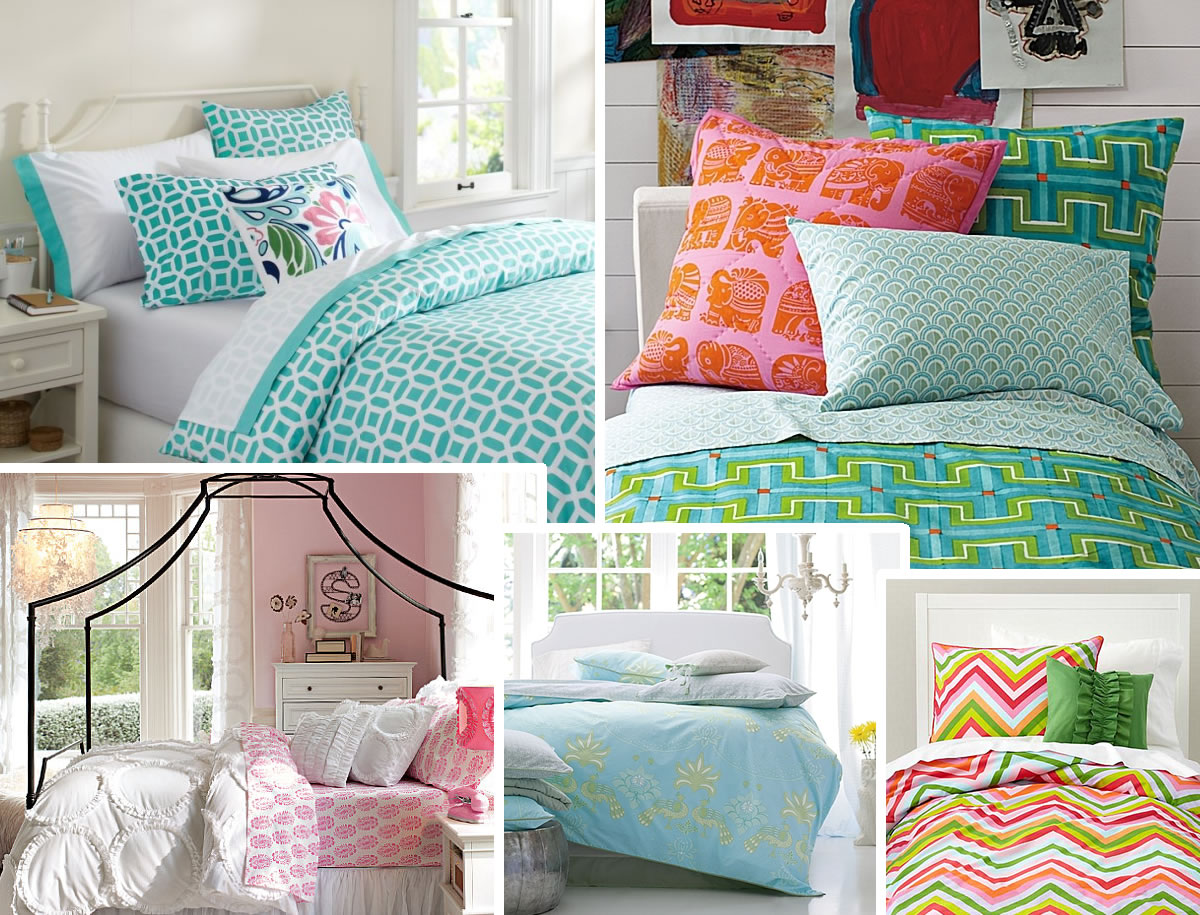 Interior Girls Bedding Ideas stylish bedding for teen girls