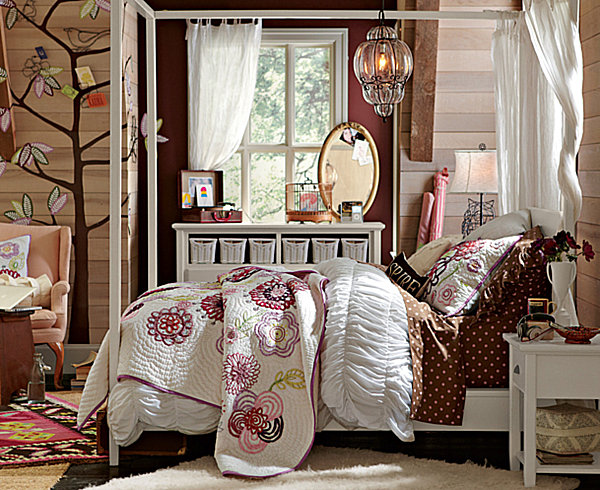 teen girls bedroom bohemian