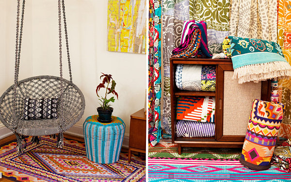 bold and colorful tribal patterns