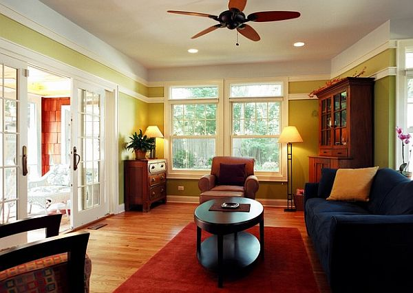 view in gallery two tone colored living - Color Of Walls For Living Room