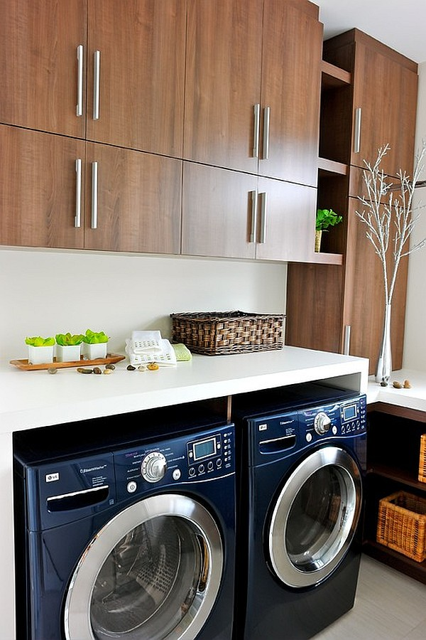 Beautiful, ultra-modern laundry room design