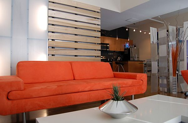 ultra modern living room with pallet board wall Wood Accents for a Special Touch