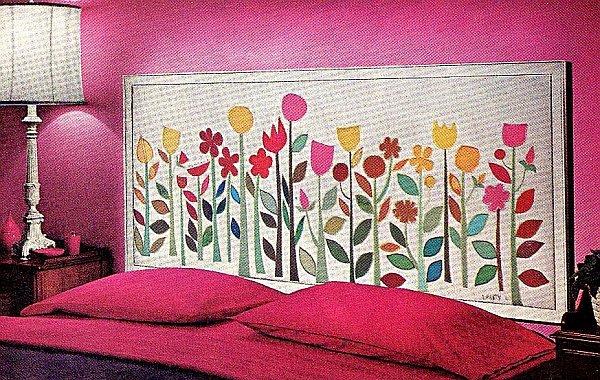 wall mosaic headboard idea