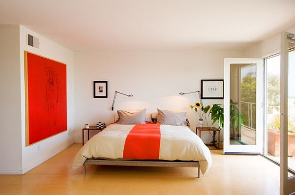 white-and-orange-bedroom-decor