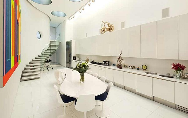 white curvacious luxury kitchen design