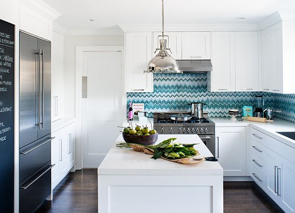 white kitchen cabinets with modern pulls