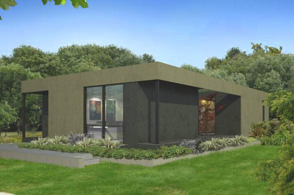 8 modular home designs with modern flair for Modern 3 bedroom house