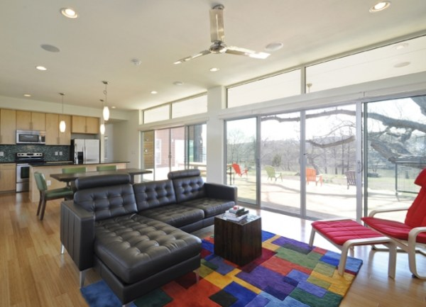 A colorful modern interior