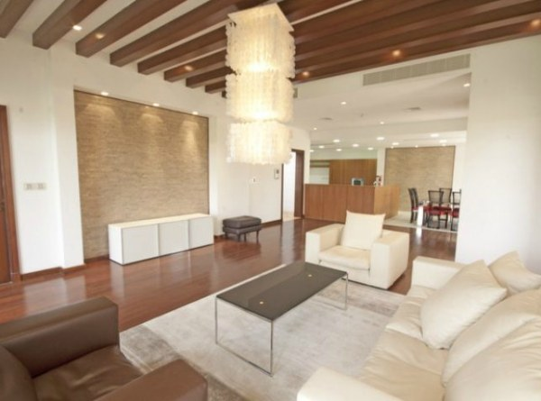 A modern villa living area