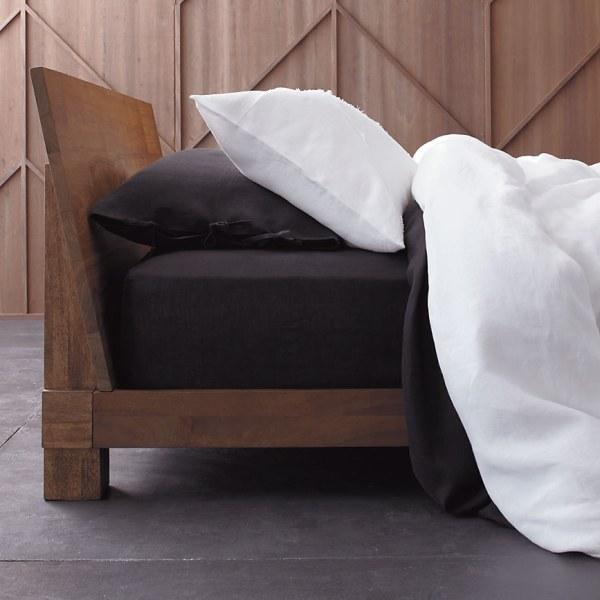 A modern wooden bed