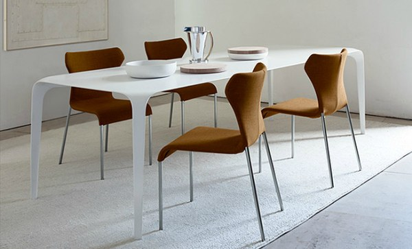 A white contemporary table