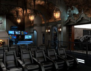 Dark Knight Themed Home Theater; Every Man's Batcave Dream Come True