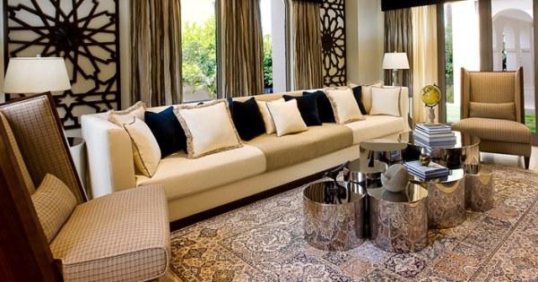 An Abu Dhabi villa living area
