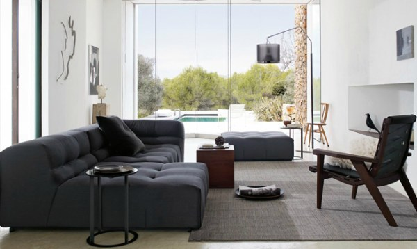 View in gallery A modern Italian tufted sofa