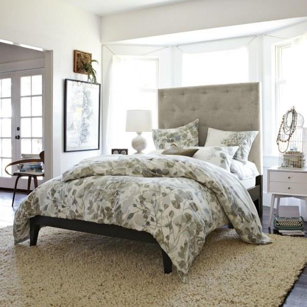 An organic duvet in a modern bedroom