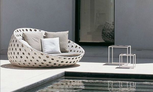 B&B Italia's Canasta Lounge Chair and Loveseat