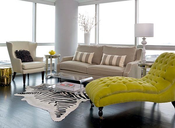 Chicago apartment makeover Parisian flair living room Water Front Apartment in Windy City Gets Sleek Parisian Makeover