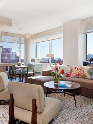 Colorful condo design in Manhattan