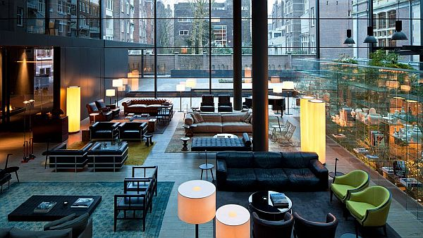 Conservatorium Hotel Amsterdam lounge Conservatorium Hotel Amsterdam: Integrating the vintage with the modern in glassy luxury