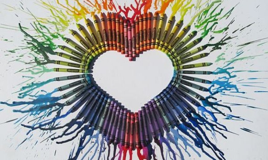 DIY Melted Crayon Art for The Whole Family