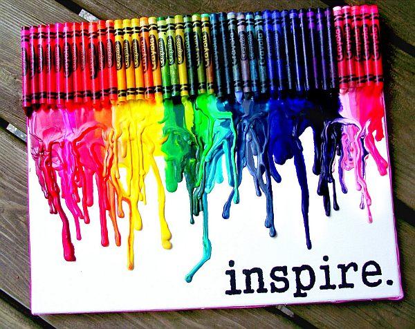 DIY melted crayon