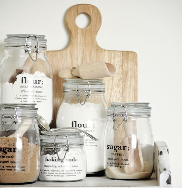 DIY pantry jars