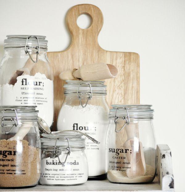 DIY pantry jars