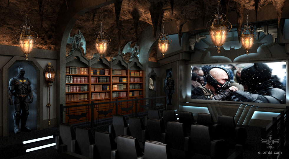 Dark Knight Home Theater Design
